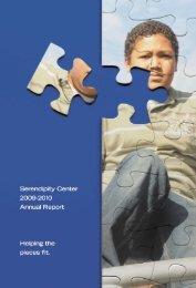 Serendipity Annual Report 2009-2010 - Serendipity Center
