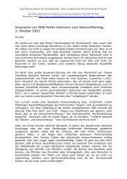 Ansprache von MdB Martin Hohmann zum ... - Sonntagsblatt