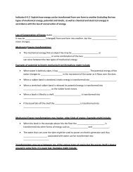 Indicator 6-5.2 Explain how energy can be transformed from one ...
