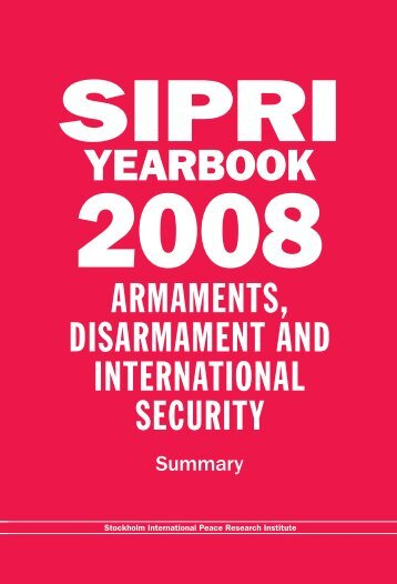 SIPRI Yearbook 2008, Summary