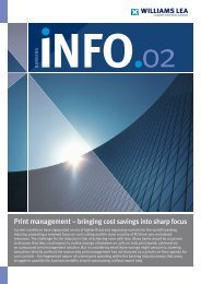 Print management ° bringing cost savings into sharp ... - Williams Lea