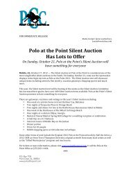 Polo at the Point Silent Auction Has Lots to Offer - University of ...
