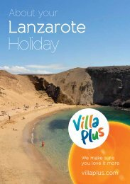 Download Lanzarote resort guide(pdf) - Villa Plus
