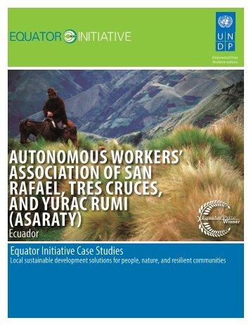 AUTONOMOUS WORKERS' ASSOCIATION OF ... - Equator Initiative