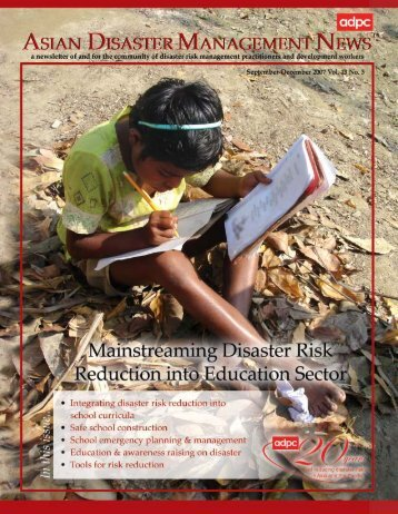 Mainstreaming Disaster Risk Reduction into Education Sector