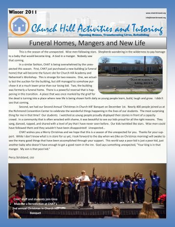 Winter 2011 Newsletter - CHAT
