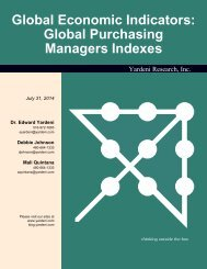 Global Purchasing Managers Indexes - Dr. Ed Yardeni's Economics ...