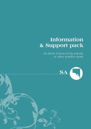 Information & Support pack SA - Living is for Everyone