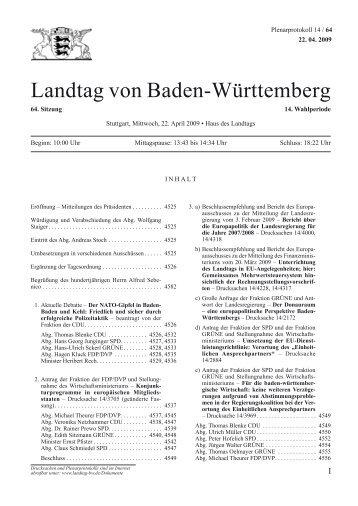 Landtag von Baden-Württemberg - Günther-Martin Pauli MdL