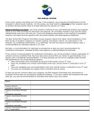 PhD Annual Review Form