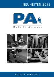 NEUHEITEN 2012 - PA-Accessoires