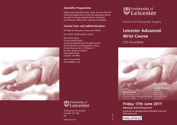 Leicester Advanced Wrist Course