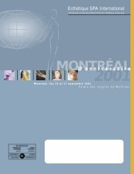 MONTRÉAL - Esthétique Spa International
