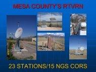 mesa county's rtvrn 23 stations/15 ngs cors - Mesa County GIS