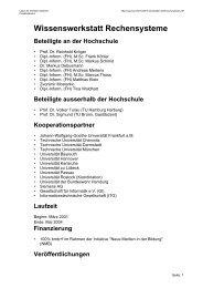 Wissenswerkstatt Rechensysteme - Labor für Verteilte Systeme