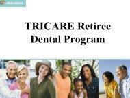 The TRICARE Retiree Dental Program - Selfridge MWR