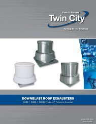 Centrifugal Downblast Roof Exhausters - Twin City Fan & Blower