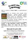 Conférence agroécologie, permaculture - Amis de la Terre - Page 4