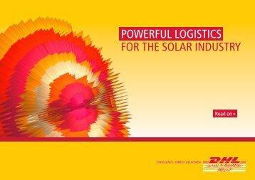 Download our Solar Energy Logistics brochure - DHL