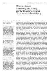 Sonderweg und Abweg. Zur Kritik einer deutschen ...