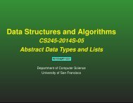 Data Structures and Algorithms - Computer Science - University of ...