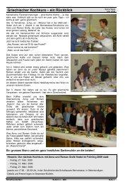 Griechischer Kochkurs – ein Rückblick - Hellasfreunde Bern