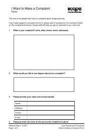 I Want to Make a Complaint Form (PDF 92.5 KB) - Scope