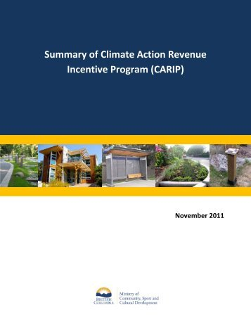 Summary of Climate Action Revenue Incentive Program (CARIP)