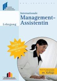 Management- Assistentin - Akademie für Sekretariat und ...