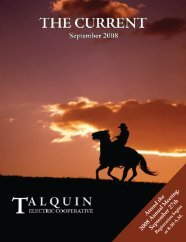 Attend the 2008 Annual  M eeting, Septem ber 27th - Talquin Electric ...