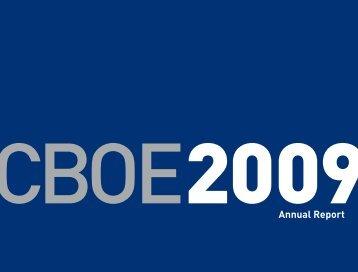 2009 Annual Report - CBOE.com