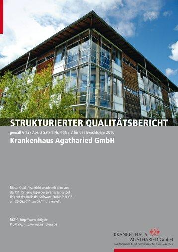 Qualitätsbericht Jahr 2010 - Krankenhaus Agatharied