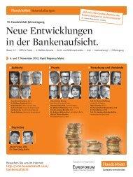 Neue Entwicklungen in der Bankenaufsicht. - ib-bank-systems GmbH