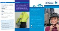 Cycling: Clothing and Accessories - Swindon Travel Choices