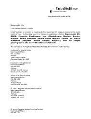 September 24, 2004 Dear UnitedHealthcare Customer ...