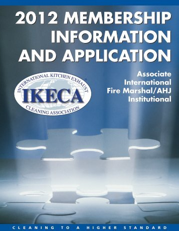 2012 MEMBERSHIP INFORMATION AND APPLICATION ... - IKECA