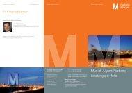 Munich Airport Academy Leistungsportfolio - Flughafen München