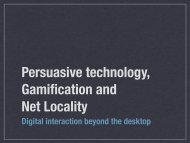 Persuasive technologies - 46h