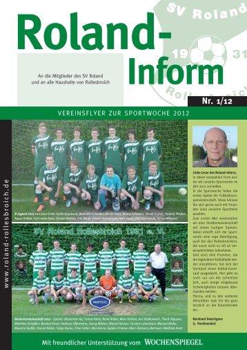 Inform Nr. 1/12 - SV Roland Rollesbroich 1931 eV