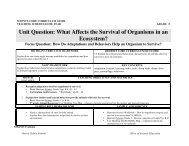 Unit Question: What Affects the Survival of Organisms in an ... - myDPS