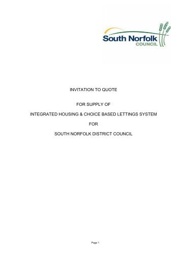 Invitation to quote [PDF] - South Norfolk Council