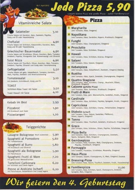 Speisekarte zum Downloaden - Austria-Sites