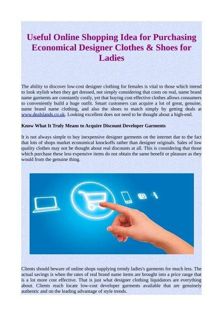 Discount Designer Clothing Shop Authentic | Useful Online Shopping Idea For Purchasing Economical Designer