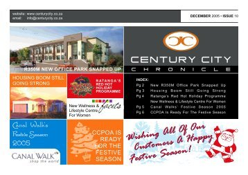 01 December 2005 Newsletter - Century City