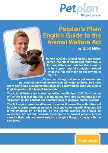 Animal Welfare Act - Petplan