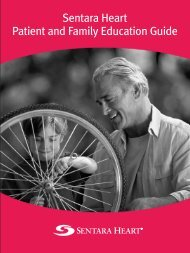 Sentara Heart Patient and Family Education Guide - Sentara.com