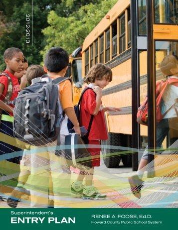 90-day Entry Plan - Howard County Public Schools