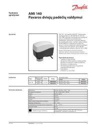 AMI 140 pavaros AB-QM balansiniams ventiliams - Danfoss