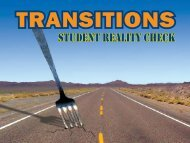 Transitions: Student Reality Check - St. Francis Xavier University