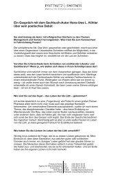 Ein Gespräch mit dem Sachbuch-Autor Hans ... - Prittwitz & Partner
